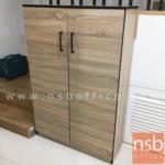 ตู้เก็บรองเท้า 2 บานเปิด รุ่น FW-SH1 ขนาด 80W*122.5H cm. PVC สีโซลิค-ขอบดำ