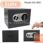 ตู้เซฟดิจตอล SR-ES800 เจาะช่องหยอดเงิน น้ำหนัก 2.3 กก. (1 รหัสกด / ปุ่มหมุนบิด)