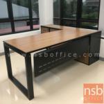 A30A029:โต๊ะผู้บริหารขาเหล็กตัวยู บังตาเหล็ก พร้อมตู้ข้าง 200W1*180W2 cm รุ่น Compact