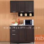 K03A021:ชุดตู้ครัว 120W cm. รุ่น STEP-002 พร้อมตู้แขวน