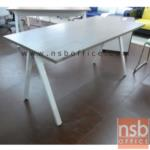 A23A002:โต๊ะทำงานโล่ง ขาเหล็กตัวเอ DK-ALEG15 เมลามีน