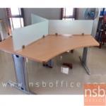 A27A005:โต๊ะทำงานกลุ่ม 3 ที่นั่ง ผลิต 2 ขนาดคือ 90W*90W cm และ 120W*120W cm ต่อที่นั่ง