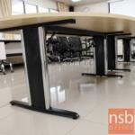 โต๊ะประชุมทรงแคปซูล  ขนาด 300W ,360W ,400W ,480W cm.  พร้อมระบบคานเหล็ก ขาเหล็กตัวไอ
