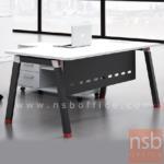 A30A024:โต๊ะผู้บริหารทรงสี่เหลี่ยม รุ่น J-G262 ขนาด 180W cm. ขาเหล็กเหลี่ยมใหญ่ทำสีดำ