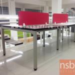 A04A142:ชุดโต๊ะทำงานกลุ่ม Smart-S135 พร้อมมินิสกรีน (135W*60D cm / ที่นั่ง)