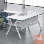 A30A025:โต๊ะผู้บริหาร ขาทรงตัวเอ ทำสีขาว 160W G362