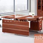 A04A149:ชุดโต๊ะทำงาน 2 ที่นั่ง สีสัก รุ่น BC-OFT-016H พร้อมมินิสกรีนกั้นบนโต๊ะ