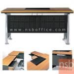 A30A008:โต๊ะผู้บริหารโล่งและตู้เก็บเอกสาร  พร้อมตู้ลิ้นชัก และตู้ข้าง (สินค้ารอผลิต 30 วัน)