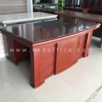 A06A020:โต๊ะผู้บริหารตัวแอล Majestic 180W*93D cm (3 ชิ้น พร้อมตู้ลิ้นชักและตู้ข้าง)
