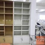 L03A236:ตู้เอกสาร บนโล่ง-ล่างบานเปิด  ขนาด 80W cm. (STOCK-สีละ 1 ตู้)