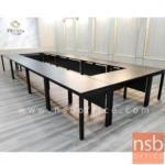 โต๊ะทำงาน บังโป๊ไม้  ขนาด 120W ,135W ,150W ,180W cm.  ขาเหล็กเหลี่ยมทำสี
