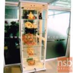 G06A029:ตู้โชว์กระจกดาวน์ไลท์ 1บานเปิดกระจกใสสูง 190 ซม. รุ่น SFK-LDD-360  มีไฟในตัว (หลังกระจกเงา)
