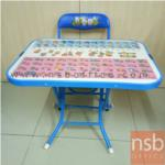 L08A040:ชุดเขียนหนังสือ กข.  สีนำ้เงิน  เก้าอี้ขนาด 29*29*53  ขนาดโต๊ะ 61*45*47  มี1ชุด