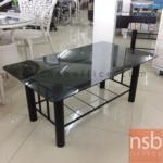 L01A102:โต๊ะกลางกระจก สีชา ขนาด92W*54D*38H cm.