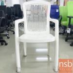 L02A090:เก้าอี้พลาสติกล้วนสีขาว  ขนาด 44W*91H cm. (STOCK-1 ตัว)