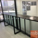 โต๊ะบาร์หน้าเมลามีน  ขนาด 120W ,150W ,200W cm.  ขาเหล็กกล่องทำสี
