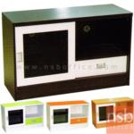 C08A017:ตู้วางทีวี 1 ลิ้นชัก 1 บานเลื่อนกระจก  รุ่น TV-EASY-1 ขนาด 100W*63H cm.