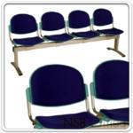 B06A055:เก้าอี้นั่งคอย ที่นั่งและพนักพิงเปลือกโพลี่ หุ้มเบาะ ทรงหอยเชลล์ B556