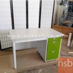 L01A068:โต๊ะทำงานเหล็กสีเขียว 4 ฟุต มี1 ตัว *มีตำหนิ* ขนาด120*60*75ซม.