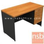 A16A032:โต๊ะทำงาน 2 ลิ้นชัก  รุ่น TY-1501 ขนาด 150W cm. เมลามีน สีเชอร์รี่ดำ