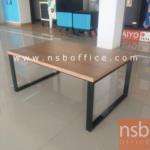 L01A118:โต๊ะกลางเมลามีน 90W*60D cm. top สีคาปูชิโน่ ขาเหล็กทำสีดำ