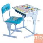 B07A067:โต๊ะเขียนหนังสือเด็กมีอักษรหน้าโต๊ะ ปรับระดับได้ รุ่น NSB-CHILD พร้อมเก้าอี้