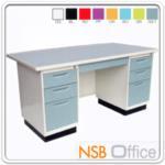 E22A010:โต๊ะทำงานหน้าเหล็ก 7 ลิ้นชัก