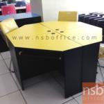 A12A055:โต๊ะคอมพิวเตอร์เข้ามุม ขนาด 75W1*75W2*75H cm. พร้อมคีย์บอร์ด