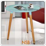 A09A078:โต๊ะไม้ล้วน รุ่น BC-DT-07 ขนาด Di60 cm.  โครงขาไม้