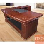 A06A130:โต๊ะผู้บริหารตัวแอล  รุ่น BC-NN180 ขนาด 180W ,200W cm.  พร้อมตู้ลิ้นชักและตู้ข้าง