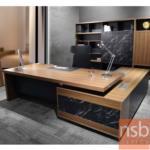 A30A021:โต๊ะผู้บริหารตัวแอล  รุ่น BC-TIP24 ขนาด 240W cm. พร้อมฝาป็อบอัพ
