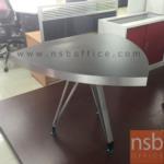 A25A002:โต๊ะประชุมสามเหลี่ยม TOP ลามิเนตแบบด้าน หนาพิเศษ 6 cm.