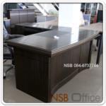 A06A068:โต๊ะบริหารตัวแอล รุ่น FTS-FCF253 พร้อมตู้ข้าง และลิ้นชัก (160W, 180W, W200 cm.)