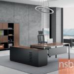 A30A018:โต๊ะผู้บริหารตัวแอล รุ่น FNC1921 190W ,210W cm. (พร้อมตู้ข้างช่องโล่ง)