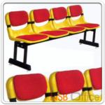 B06A064:เก้าอี้นั่งคอย โพลี่พิงเอนได้ หุ้มเบาะ ขาเหล็กเหลี่ยมแบบคู่ EX-12