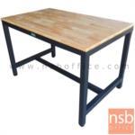 A17A087:โต๊ะโรงอาหารไม้ยางพาราแผ่นเดียว รุ่น VERMONT (เวอร์มอนต์) ขนาด 150W cm. ขาเหล็ก