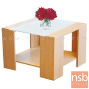 B13A061:โต๊ะกลางกระจก  รุ่น KT-5T-60 ขนาด 60W cm. โครงไม้