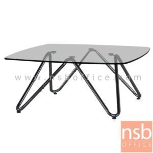 B13A221:โต๊ะกลางกระจก  รุ่น CLYCLAMEN-1253 ขนาด 90W cm. โครงเหล็กชุบโครเมี่ยม