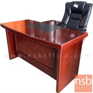 A06A050:โต๊ะผู้บริหารตัวแอล 4 ลิ้นชัก  รุ่น Filmstar (ฟิล์มสตาร์) ขนาด 140W cm.  พร้อมตู้ข้าง