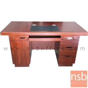 โต๊ะผู้บริหารทรงตรง 4 ลิ้นชัก  รุ่น Pantera (แพนเทอรา) ขนาด 140W ,160W cm. พร้อมกุญแจล็อค