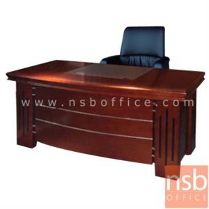 A06A034:โต๊ะผู้บริหารตัวแอล  รุ่น Mend  ขนาด 160W cm. พร้อมตู้ลิ้นชักและตู้ข้าง