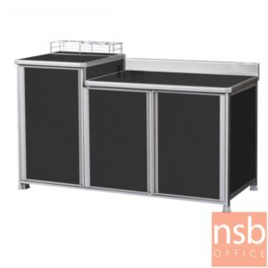 K09A022:ตู้ครัววางเตาแก๊สอลูมิเนียม  กว้าง 150.5 cm. รุ่น DKC-PM