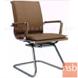 B04A112:เก้าอี้รับแขกขาตัวซี รุ่น JH-985D-6  ขาเหล็กชุบโครเมี่ยม