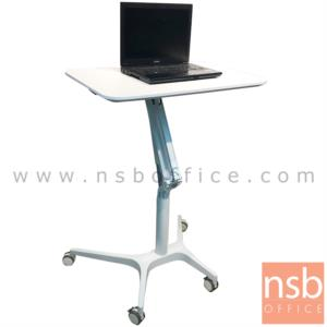 A18A092:โต๊ะล้อเลื่อน presenter แบบยืน ปรับสูงต่ำได้   โครงขาอลูมิเนียม