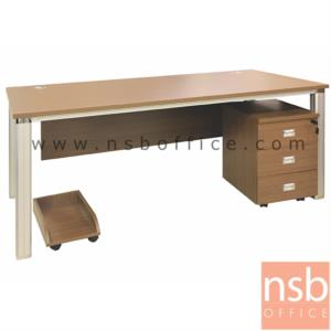 A30A010:โต๊ะผู้บริหารทรงสี่เหลี่ยม 3 ลิ้นชัก  รุ่น HJK-8160 ขนาด 160W cm. พร้อมที่วาง CPU