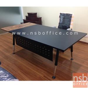 A31A001:โต๊ะผู้บริหารทรงสี่เหลี่ยม รุ่น HTY-TICA  ขนาด 200W cm. ขาเหล็ก