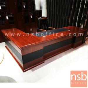 A06A137:โต๊ะผู้บริหารตัวแอล รุ่น BC-NA300 ขนาด 300W cm. พร้อมตู้ข้าง
