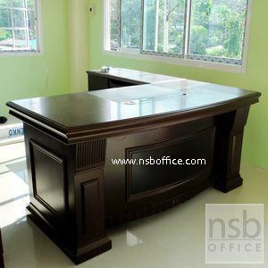 A06A079:โต๊ะบริหารตัวแอล รุ่น FTS-FCF573  ขนาด 160W, 180W cm. พร้อมตู้ข้าง และลิ้นชัก