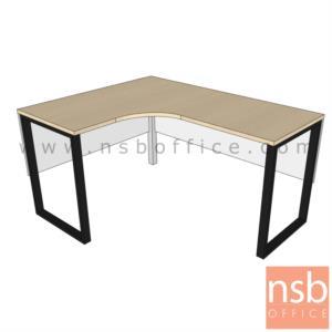 A16A062:โต๊ะทำงานตัวแอล  ขนาด 150W1*120W2 cm. และ 150W1*150W2 cm. ขาเหล็กกล่อง