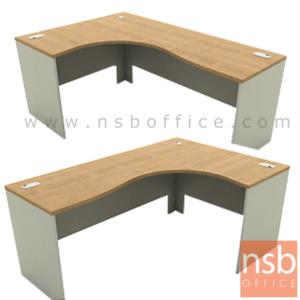 A13A017:โต๊ะทำงานตัวแอลหน้าโค้งเว้า   รุ่น DF-816 ขนาด 150W1 ,165W1 ,180W1*120W2 cm.  เมลามีน